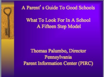 A Parent and Teacher's Guide To Good Schools