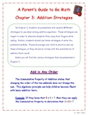 A Parent's Guide to 1st Grade Go Math Chapter 3