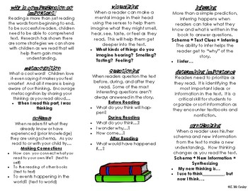 A Parent's Guide to Reading At Home Pamphlet