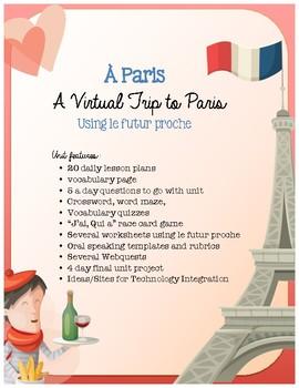 À Paris - French Culture using a Virtual Field Trip