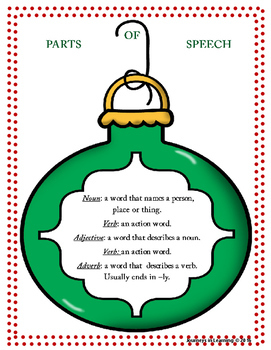 A Parts of Speech Christmas