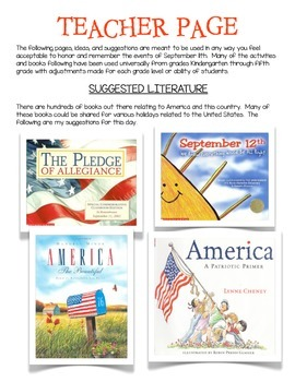 A Patriot Day (September 11th) Mini Packet