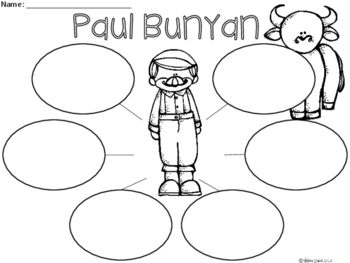 A+ Paul Bunyan... Three Graphic Organizers