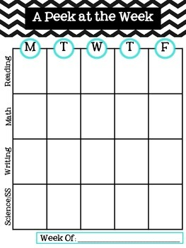 A Peek At the Week Planning Pages