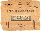 A Peek at Ancient Egypt PowerPoint