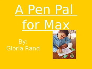 A Pen Pal for Max - Vocabulary