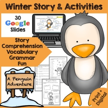 A Penguin Adventure Story - Activity Pack - Comprehension, Vocabulary, Writing