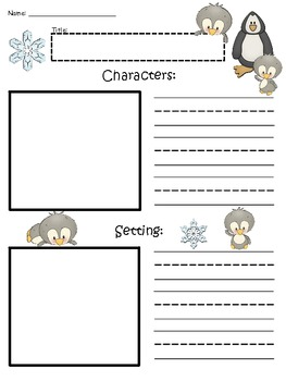 A+ Penguin: Blank Story Maps