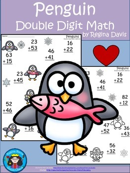 A+  Penguin: Double Digit Addition