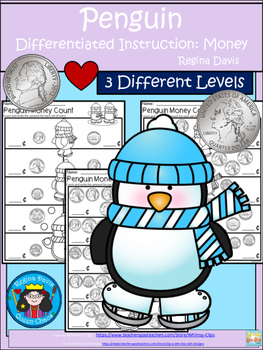 A+ Penguin Money Count...Differentiated  Practice