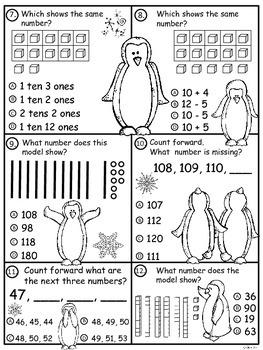 A+ Penguin Place Value Practice