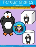A+ Penguin Shapes... 2-Dimensional and 3-Dimensional Shapes