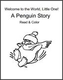 A Penguin Story - Read & Color