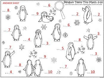 A+  Penguin Teeny Tiny Math: I Spy  Addition & Subtraction
