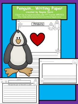 A+ Penguin Writing Paper