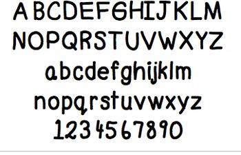 A Penmanship Font