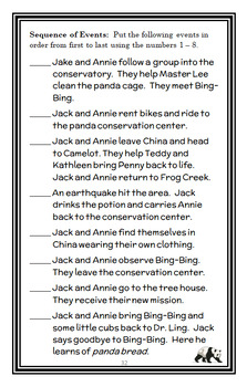 A Perfect Time for Pandas : Magic Tree House #48 (Osborne) Novel Study