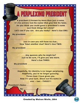 A Perplexing President - An Inference Activity
