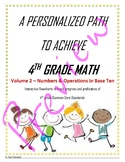 4th Grade Math Vol 2 - NBT - Blended Learning - Personalized Learning