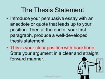 A Persuasive Writing Recipe PowerPoint