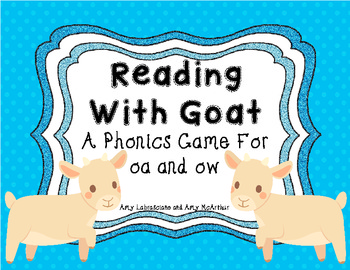 A Phonics Game for oa and ow Sound