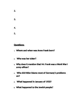 A Picture Book of Anne Frank by David Adler-Book Not Included