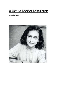 A Picture Book of Anne Frank by David Adler