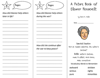 A Picture Book of Eleanor Roosevelt Trifold - ReadyGen 2nd Grade Unit 6 Module B