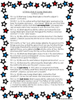 A Picture Book of George Washington: Text-Dependent Questions and more!
