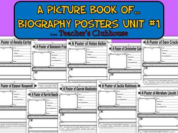 A Picture Book of...Biography Posters Unit #1 from Teacher's Clubhouse
