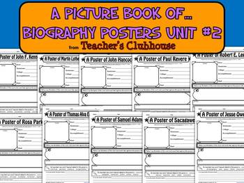 A Picture Book of...Biography Posters Unit #2 from Teacher's Clubhouse