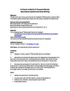 A Picture is Worth A 1000 Words:  Creative Narrative Writing