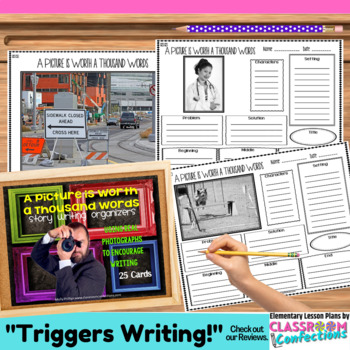 Narrative Writing Graphic Organizers: Writing Prompts using Pictures