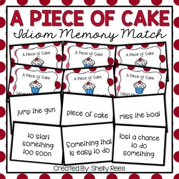 Idiom Memory Matching Game: A Piece of Cake