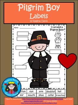 A+ Pilgrim Boy Labels