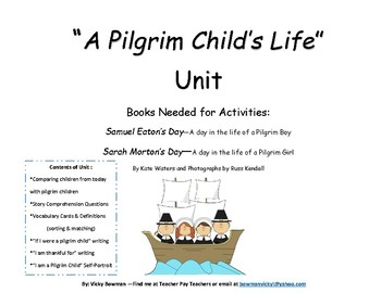 A Pilgrim Child's Life Unit