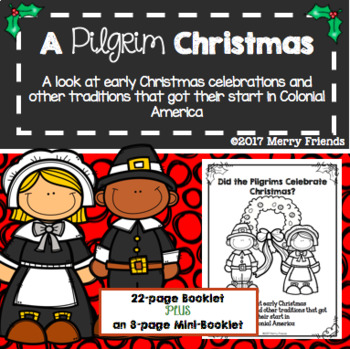A Pilgrim Christmas Unit - A Colonial Perspective of Holidays