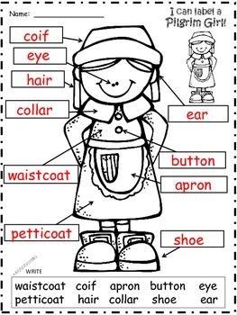 A+ Pilgrim Girl Labels