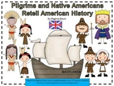 A+ Pilgrims And Native Americans: History Retelling Cards and Word Wall