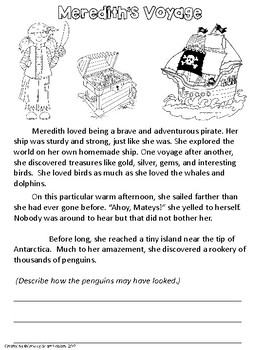 A Pirate Story: Reading Comprehension, Inference, Writing Details
