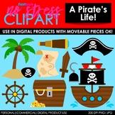 A Pirate's Life! Clip Art (Digital Use Ok!)