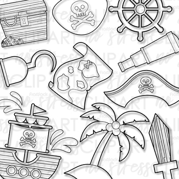 A Pirate's Life! Clip Art (Digital Use Ok!)