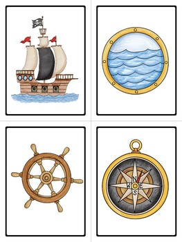A Pirate's Life Picture Word Card Mini-Set For Kindergarten