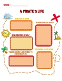 A Pirate's Life Writing Prompt/ Writing Template