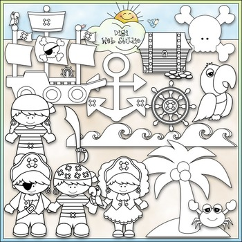 A Pirate's Life - CU Clip Art & B&W Set