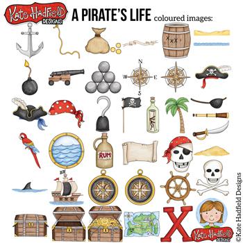 """Pirate Clip Art: """"A Pirate's Life"""""""
