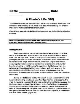 A Pirate's Life DBQ