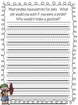 A Pirate's Life For Me: 10 Writing Lessons and Printables with a Pirate Theme