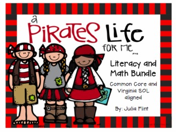 A Pirates Life For Me Literacy and Math Bundle