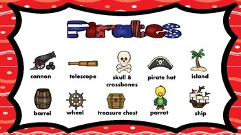 A Pirate's Life for Me! Math and Literacy Centers